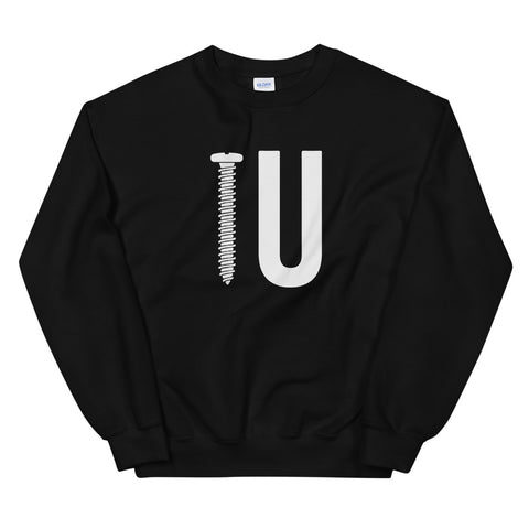 funny offensive sweatshirts - black screw you
