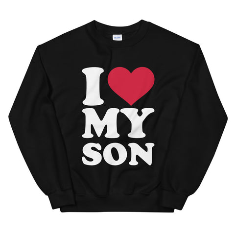 funny mom sweatshirts - black i love my son
