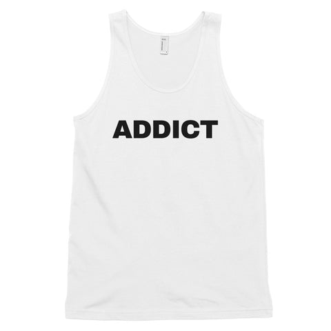 funny drinking tank tops - white Addict