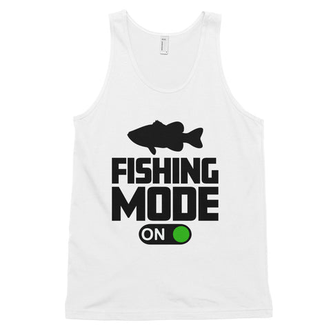 funny fishing tank tops - white Fishing Mode On