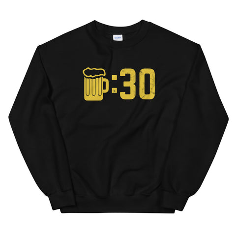 funny drinking sweatshirts - black Beer O'Clock