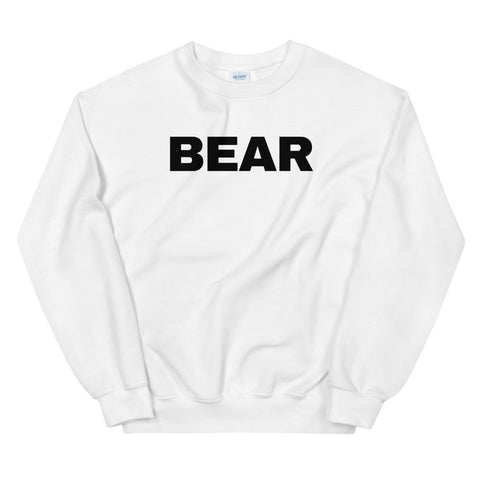 funny gay sweatshirts - white Bear