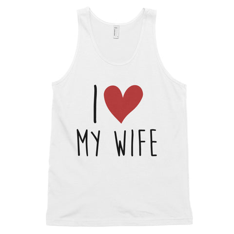 funny dad tank tops - white I Love My Wife