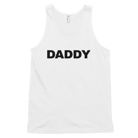 funny dad tank tops - white daddy