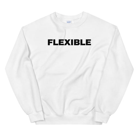 funny yoga sweatshirts - white flexible