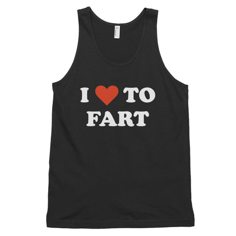 funny offensive tank tops - black I Love To Fart