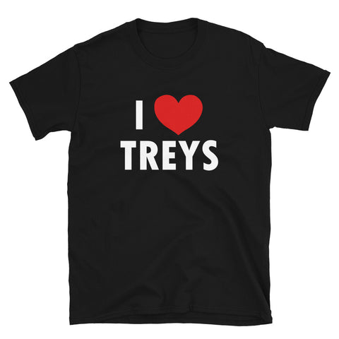 funny basketball t-shirts - black I Love Treys