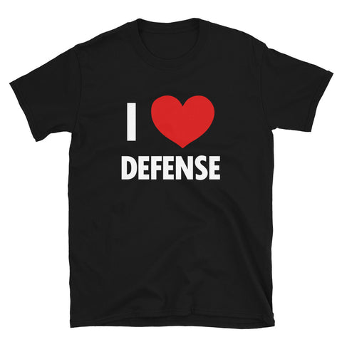 funny basketball t-shirts - black I Love Defense