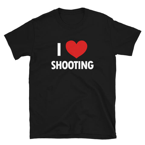 funny basketball t-shirts - black I Love Shooting