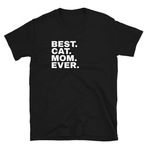 Funny Cat T-Shirts 😺– best cat mom ever (BLACK / NAVY)