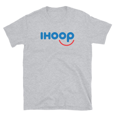 funny basketball t-shirts - grey IHOOP IHOP Parody