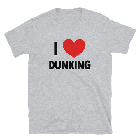 funny basketball t-shirts - grey I Love Dunking