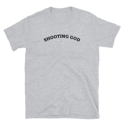 Funny Basketball T-Shirts 🏀- Shooting God (WHITE / GREY)