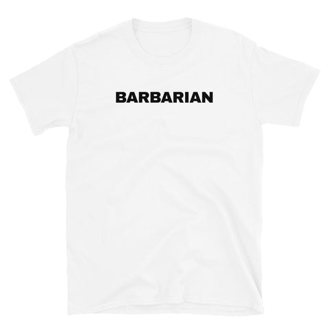 funny football t-shirts - white Barbarian