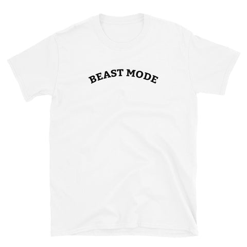 Funny Football T-Shirts 🏈- Beast Mode (WHITE / GREY)
