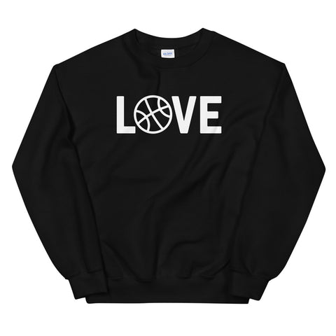 funny basketball sweatshirts - black Basketball Love