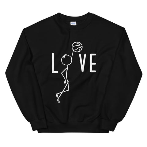 funny basketball sweatshirts - black Basketball Love V2