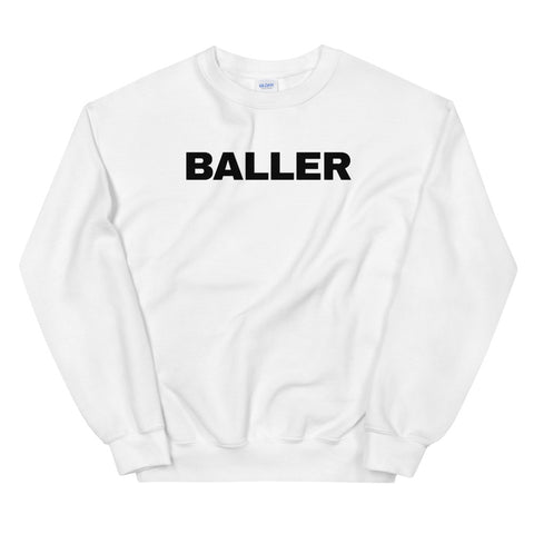 funny basketball sweatshirts - white baller