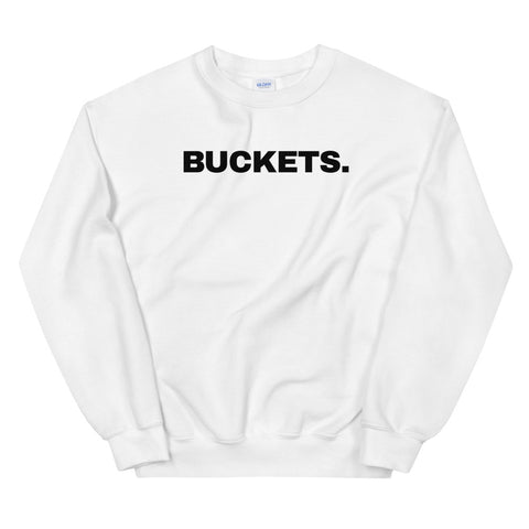 funny basketball sweatshirts - white Buckets