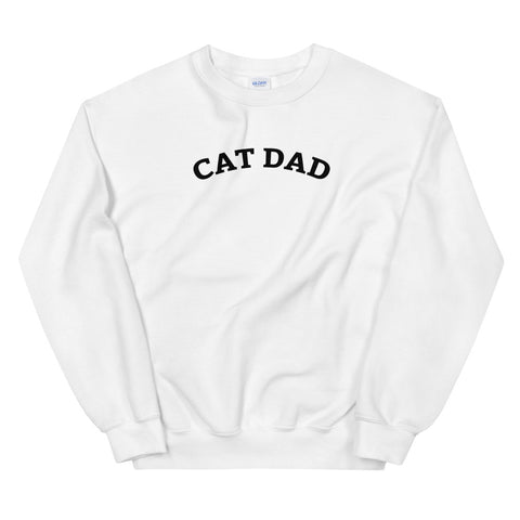 Funny Cat Sweatshirts 😺– Cat Dad (WHITE / GREY)
