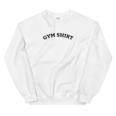 Funny Workout Sweatshirts 💪– Gym Shirt (WHITE / GREY)