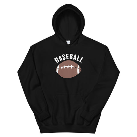 funny football hoodies - black Baseball Football Satire