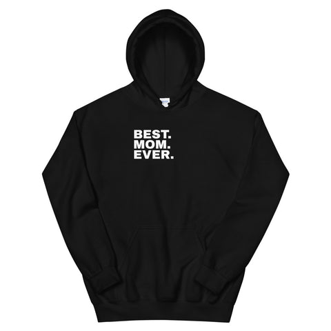 funny mom hoodies - black best mom ever