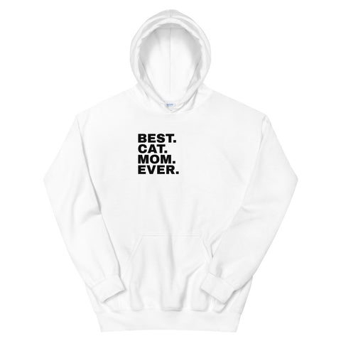 Funny Cat Hoodies 😺– best cat mom ever (WHITE / GREY)