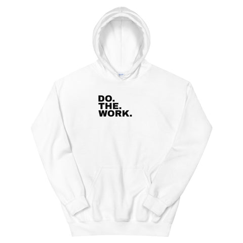 Funny Workout Hoodies 💪– Do The Work (WHITE / GREY)