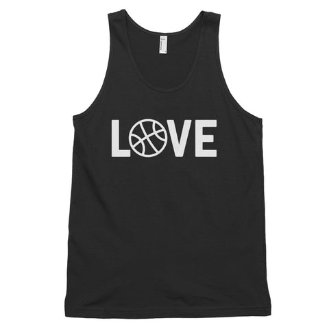 funny basketball tank tops - black basketball love