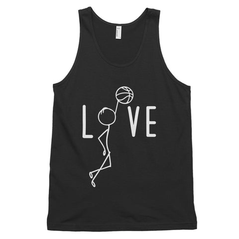 funny basketball tank tops - black Basketball Love V2