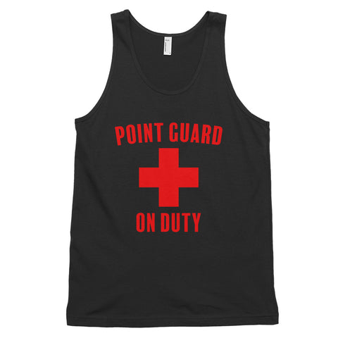 funny basketball tank tops - black Point Guard On Duty Lifeguard Parody