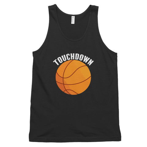 funny basketball tank tops - black Touchdown Basketball Satire V2