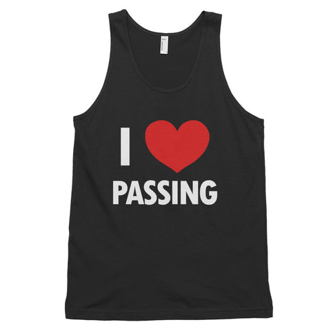 funny basketball tank tops - black I Love Passing
