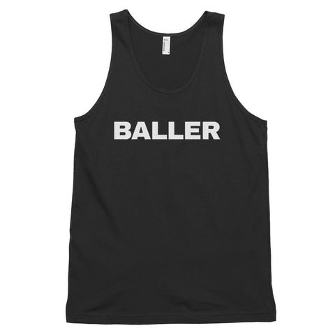 funny basketball tank tops - black baller