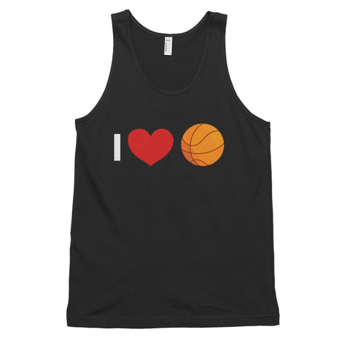funny basketball tank tops - black I Love Basketball