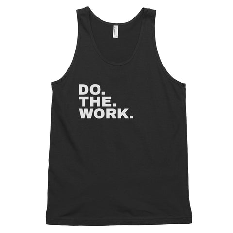 Funny Workout Tank Tops 💪– Do The Work (BLACK / NAVY)