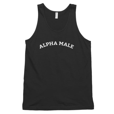 Funny Meme Tank Tops 🙃– Alpha Male (BLACK / NAVY)