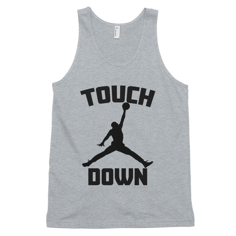 funny basketball tank tops - grey Touchdown Basketball Satire