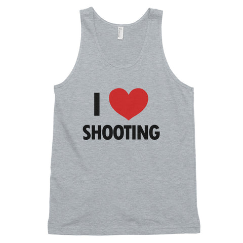 funny basketball tank tops - grey I Love Shooting