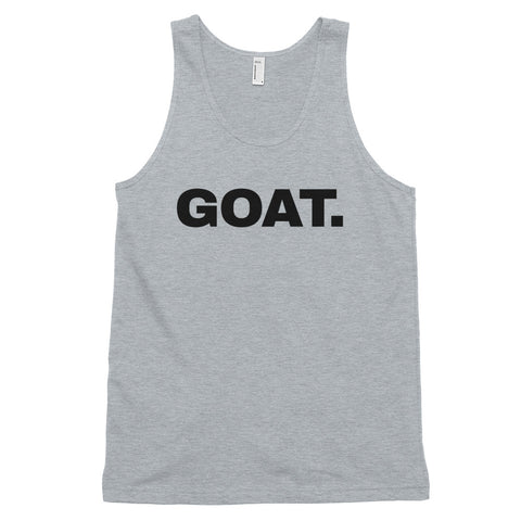 funny basketball tank tops - grey GOAT