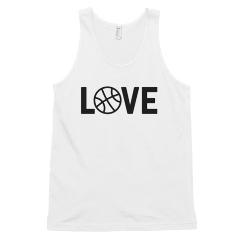 funny basketball tank tops - white basketball love