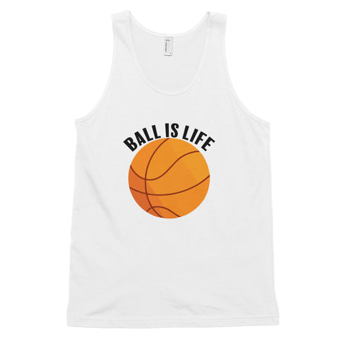 funny basketball tank tops - white Ball Is Life