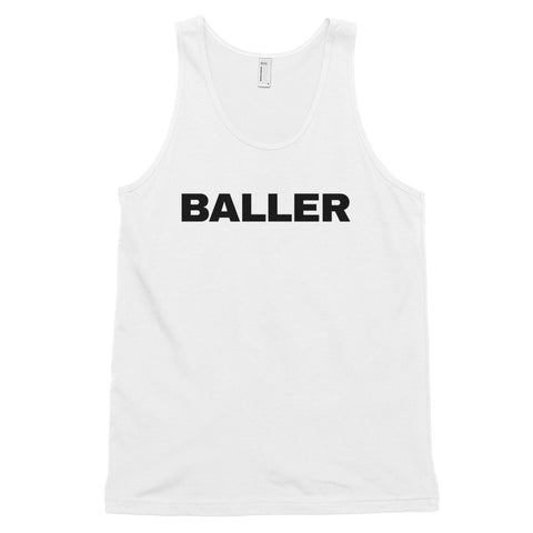 funny basketball tank tops - white baller