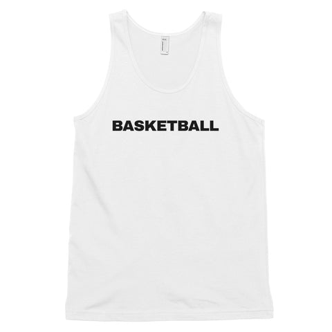 funny basketball tank tops - white basketball