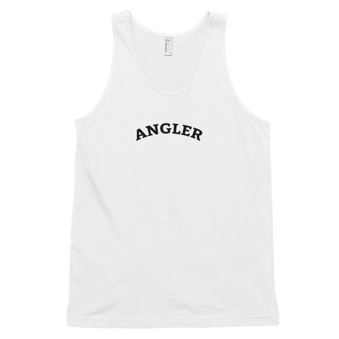 Funny Fishing Tank Tops 🐟– Angler (WHITE / GREY)