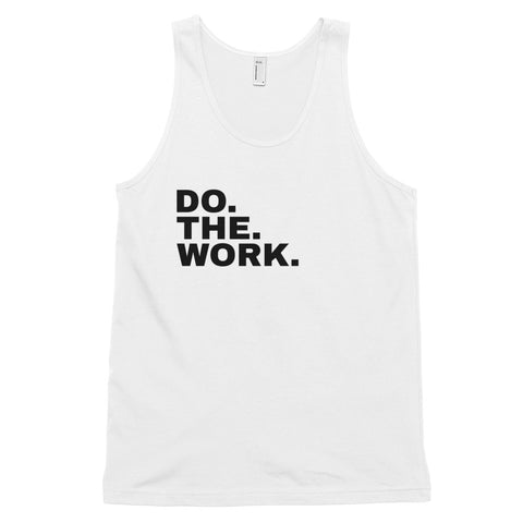 Funny Workout Tank Tops 💪– Do The Work (WHITE / GREY)