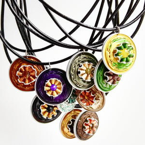 Nespresso coffee pod pendant necklace