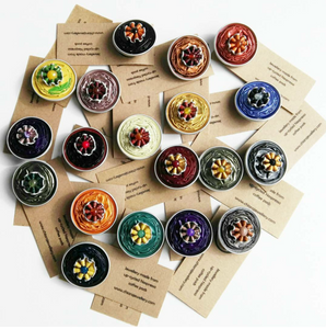 Nespresso coffee pod brooches