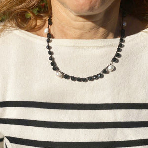 Crochet necklace - Black